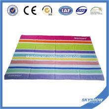 Полосатое пляжное полотенце из велюра (SST1050)
