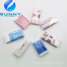 2015 heißer Verkauf Werbepapier eingewickelt Radiergummi, weißer Radiergummi,