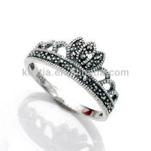 Latest marcasite diamond jewelry 925 thai silver rings