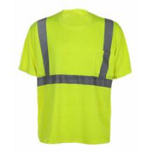 Camiseta de cuello redondo con cinta reflectante