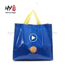 Impression polychrome imperméable pp tissé fourre-tout sac à main en porcelaine