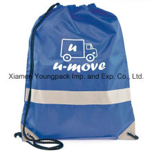 Promotional Custom 100% Polyester Waterproof Reflective Drawstring Back Pack