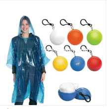 Promotional gift rain poncho in keychain balls