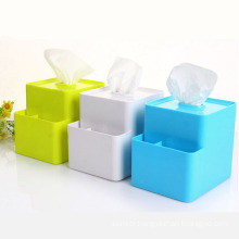 Multifunctional Creative Plastic Tissue Box with Storage Box (ZJH037)