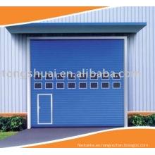 elevación vertical de la puerta industrial