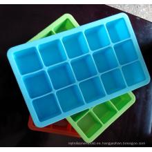 Moldes de cubitos de hielo de silicona Diseño de certificación no tóxicos de la FDA