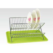 Verde y Eco-friendly Metal Dish Rack, tazón de fuente de la cocina y titular de la taza