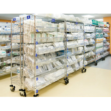 NSF Metal Removable Metal Rack de almacenamiento inclinado para Hospital / Farmacia (SL186078A6CW)