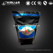 Stehbeutel Snack Verpackung Reißverschluss Laminat Tasche