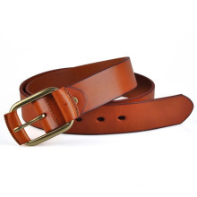 Leather cover buckle of 38mm width unisex genuine leather belt