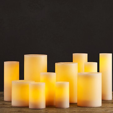 Battery lighted flickering votive LED candles