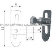 Antiluce fastener / droplock fastener / drop catch