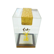 OEM Transparent Acrylic Gift Boxes for Wine Glass/Wine Display Gift Box