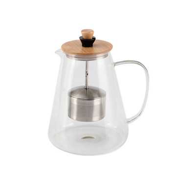 Teatime Glass Tea Pot Infuser haute réglable