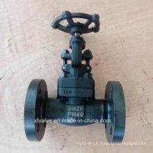 Clapet de robinet d'extrémité de connexion de bride en acier au carbone forgé standard DIN