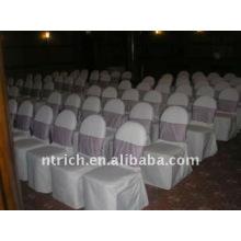 Couverture de chaise de banquet standard, CT024 polyester matière, durable et facile lavable