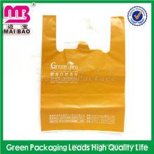 Bunter kundengebundener Supermarkt-biologisch abbaubare LDPE / HDPE T-Shirt Weste-Plastiktasche