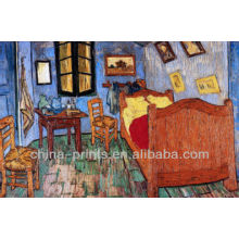 Pintura do quarto de Van Gogh pela pintura a óleo handmade da lona da pintura de Giclee