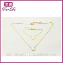 Alibaba special shape moon torque jewelry sets