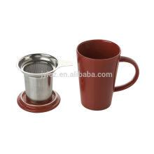 Tasse en céramique d'audit d'usine de sedex avec le filtre et le couvercle