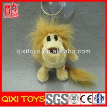 Personnalisé anime peluche lion jouet mini peluche lion porte-clé