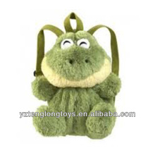 Factory Wholesale Animal Shaped Plush Backpack Frog Backpack