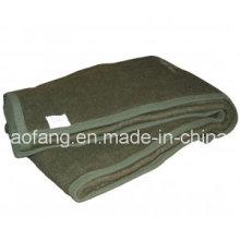 Тканые шерстяное одеяло 100% полиэстер армии/военный