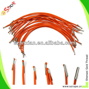 elastic string with metal tips/elastic rope with barbs/elastic cord with metal crimps