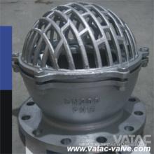 Válvula de pie Dn200 A216 Wcb / Lcb / Wc6 / CF8 / CF8m con brida