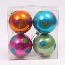 Fancy Design Shiny Hand-painted Colorful Christmas Ball