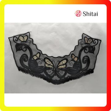 100% Polyester Embroidery Lace Collar