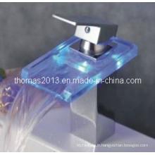 Robinet de bassin de cascade de LED, robinet d'eau simple de poignée (Qh0818f)