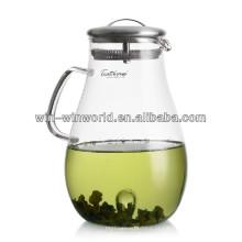 Jarro alcalino do filtro de água do vidro acrílico do restaurante com tampa dos SS