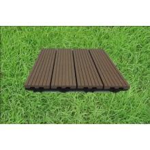 Telhas de assoalho ao ar livre baratas WPC DIY telham telhas de bloqueio compostas plásticas de madeira
