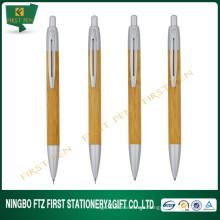 Presente promocional de caneta esferográfica de bambu reciclado