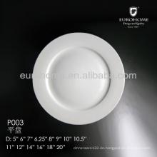 "6 1/4 ""Porzellan-Brotplatte, Salatteller, 6,25"" Porzellan-Dessertteller"