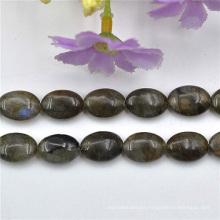 Piedra Natural Oval marrón de perlas de joyería Diy