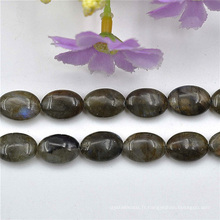 Pierre naturelle ovale marron perles bijoux faisant bricolage
