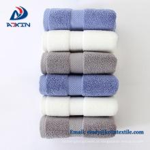 Top quality 100% algodão luxo fronteira hotel toalha 5 estrelas