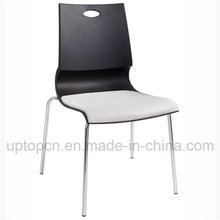 Buffet Plastic Chair with Chrome Steel and Cushion (SP-UC430)
