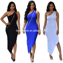 wholesale clothing Shoulder pencil skirt white sexy pencil skirt dress women ladies