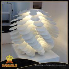 Moderna de marfil lámpara de mesa de aluminio PMMA (2215TX)