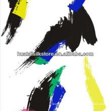 Pure Silk Brushwork Digital Printed For Girl's Bag Fabric