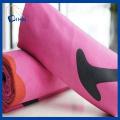 Serviette sèche rapide en microfibre de couleur rose (QHQ88212)