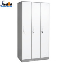 Hochwertige Schule Möbel drei Tür Metall Almirah Design