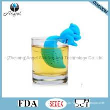 Alta qualidade Squirrel Silicone filtro de chá para férias St07