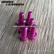 Made of anodized aluminum M3*12 hexagon button screw