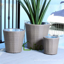Vase -(12) home & garden furniture wicker/ PE rattan garden flower pot price