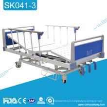 Fabricant médical manuel de lit d'hôpital de SK041-3 avec trois fonctions