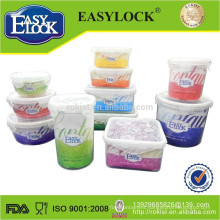2014 new design microwave plastic container with lid